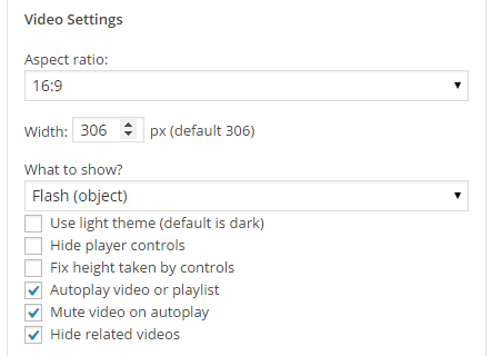 YouTube Channel: Video Settings