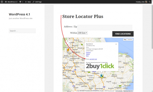Store Locator Plus: Clickable phone number in Map Bubble